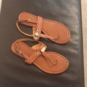 COACH brown leather sandals size 10